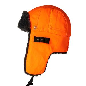 "Wintermütze ""Copilot"" - orange-schwarz - ReHats Berlin"
