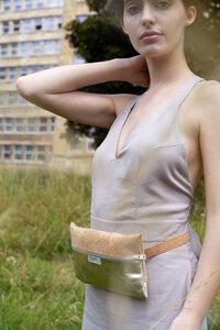 Gürteltasche Belt Bag Kork Gold - frisch Beutel