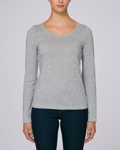 Langarmshirt, Longsleeve für Damen aus 100% Bio-Baumwolle, unifarben - YTWOO