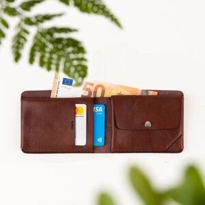 Portemonnaie 3 aus vegetabil / pflanzlich gegerbtem Leder  - DUKTA