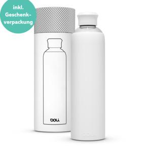 Trinkflasche aus Glas 1L mit Schutzhülle - Doli