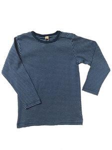 Langarmshirt hellblau-petrol gestreift - Leela Cotton