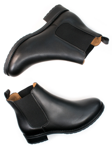 Luxe Smart-Chelsea-Stiefel Schwarz Damen - Will's Vegan Shop