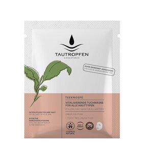 Unique/Teeknospen, Vitalisierende Tuchmaske für alle Hauttypen - Tautropfen