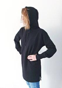 Cool Classic Black Hoodie Kleid mit Kapuze | Bio  - milch Basics