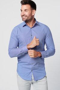Nachhaltige Langarm Herren Hemd Marine Water 100% Bio - SKOT Fashion
