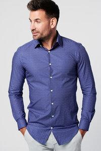 Nachhaltige Langarm Herren Hemd Skot Kobalt 100% bio - SKOT Fashion