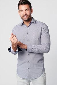 Nachhaltige Langarm Herren Hemd Flower Grey 100% bio - SKOT Fashion