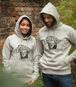 Björn Bär und Fido Fisch - Unisex Fair Wear Hoodie - Heather Grey - päfjes