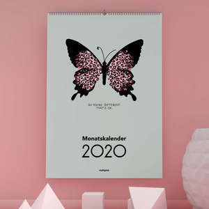 "Design-Wandkalender 2020: ""So you're different. That's ok"" - stahlpink"