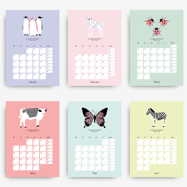stahlpink - Design-Wandkalender 2020: So you're different ...