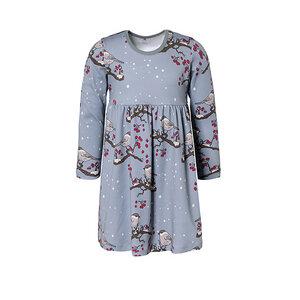 Walkiddy Kleid Langarm Mädchen blau 100% Baumwolle (bio) - Walkiddy