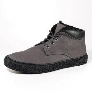 Hohe Winter-Sneaker Unisex LAVOS (Microfaser, gefüttert, dunkelgrau) - Fairticken