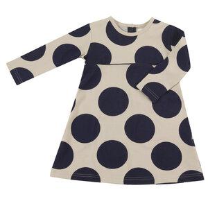 Skater Kleid für Mädchen mit dunkelblauen Punkten - Pigeon by Organics for Kids
