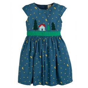 Frugi Mädchenkleid sparkle & shine Mond Sterne - Frugi