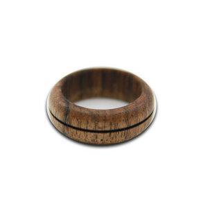 Holzring Fingerring mit 1 Brandring - Unikat - Lajos Varga