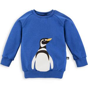 Pinguin Sweatshirt für Kinder blau mit Print - internaht