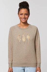 Damen Sweatshirt Glücksfedern - Kultgut