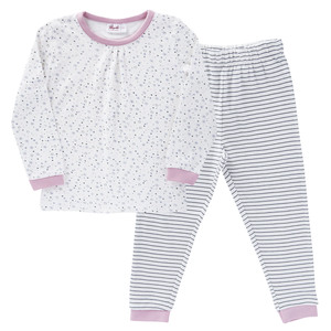 """Pyjama weiß mit Druck """"Schneeflocke"""" aus Bio-Baumwolle - People Wear Organic"""