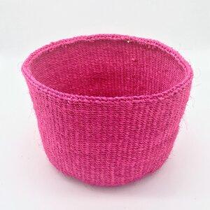Sisal Korb Einfarbig, Pink - Mira Nature