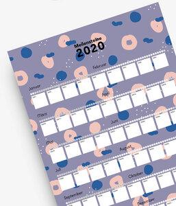 Poster-Kalender: Meilensteine 2020 - stahlpink
