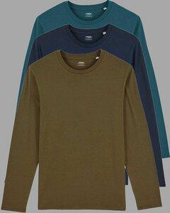 3er Pack Herren Langarmshirts, Longsleeve; verschiedene Farbkombi, Mehrfachpack - YTWOO