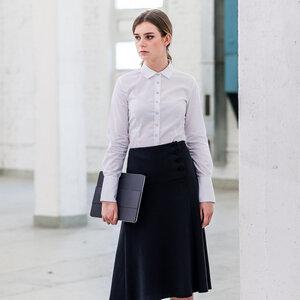 Bluse Sanduhr Weiß wider upper fit - bügelfrei - 100% Bio Baumwolle - YOU&JJ