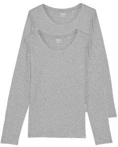 2er Pack Damen Langarm T-Shirt, Longsleeve, Mehrfachpack - YTWOO