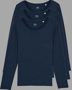 3er Pack Damen Langarm T-Shirt, Longsleeve, Mehrfachpack - YTWOO