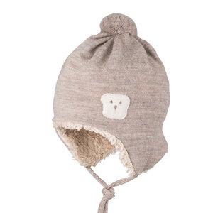 pure pure Baby Bommel-Mütze Bio-Baumwolle/Bio-Wolle - Pure-Pure