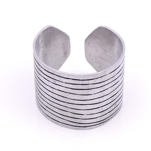 "Armreif Aluminium ""Streifen"" recycelt - Bawa Hope"