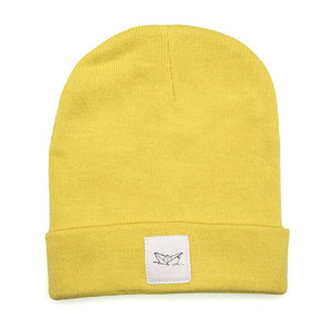 Paperboat Beanie Biobaumwolle / Made in EU sunflower yellow - ilovemixtapes