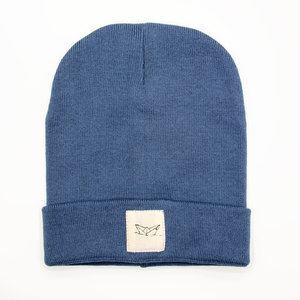 Paperboat Beanie Biobaumwolle / Made in EU washed denim - ilovemixtapes