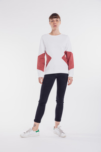 Sweater | Triangle | weiß - Degree Clothing