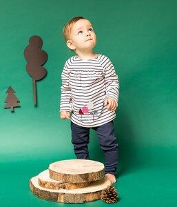Adsila - Baby Tunika mit bunten Applikationen, zartrosa-navy geringelt - Sense Organics & friends in cooperation with GARY MASH