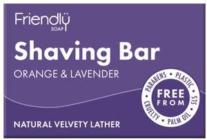 Friendly Soap Seife Rasierseife Lavendel Orange - Friendly Soap