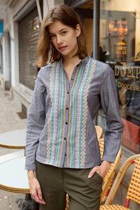 besticktes Bluse Ika aus Bio-Baumwolle - ME&MAY