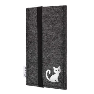 Handyhülle COIMBRA mit Katze für Samsung Galaxy Note-Serie - VEGAN - Filz Tasche - flat.design