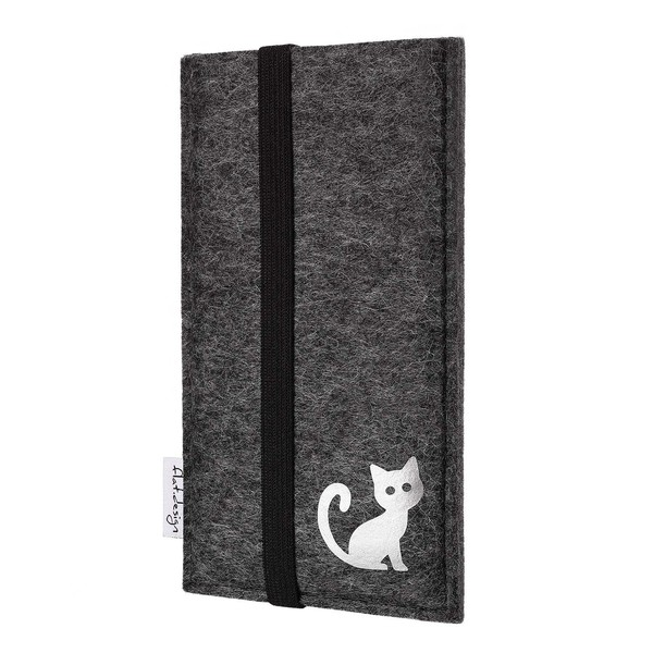 Handyhülle Coimbra Mit Katze Für Samsung Galaxy S-serie - Vegan - Filz Tasche