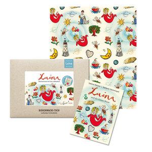 """Bienenwachstuch """"Luina"""" für Kinder mit Buch - 30x25 cm  - little bee fresh"""