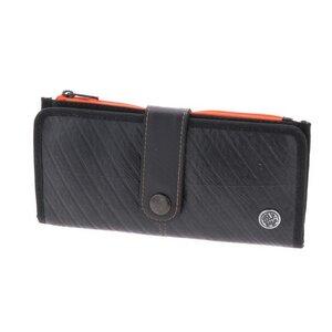 Damen Portemonnaie Brieftasche aus LKW-Schlauch für Damen - Cajero orange - MoreThanHip