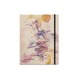 "Notizbuch Graspapier ""Eingeklemmt"" (black/Carton) - Swiss Brochure  - Matabooks"