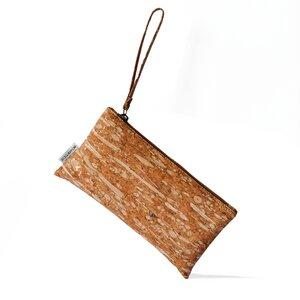 Fenchel und Kork Clutch mit Handschlaufe - Bag Affair