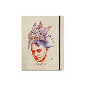 "Notizbuch Graspapier ""Florescence"" (black/carton) - Swiss Brochure - Matabooks"