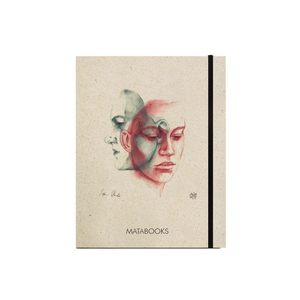 "Notizbuch Graspapier ""In thought"" (black/carton) - Matabooks"
