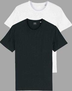 2er Pack Basic Bio T-Shirts für Damen/Herren, viele Farbkombinationen  - YTWOO
