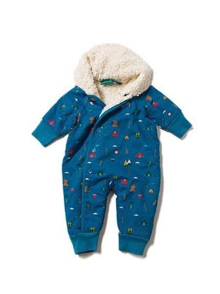 Kinder Schneeanzug blau Berge KBA Baumwolle Gr.86 Little Green Radicals Baby u