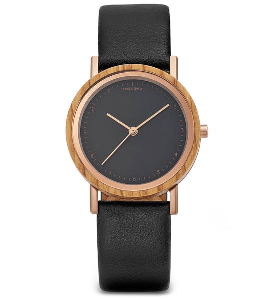 Armbanduhr Liv Eichenholz & Apvelskin