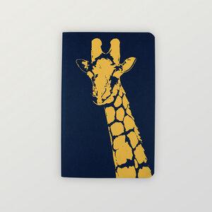 """""""Giraffe"""" edles NOTIZHEFT liniert - zirka A6 - HANDGEDRUCKT"""