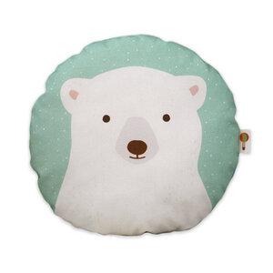 Kleines Kissen Eisbär aus Bio-Baumwolle - TELL ME